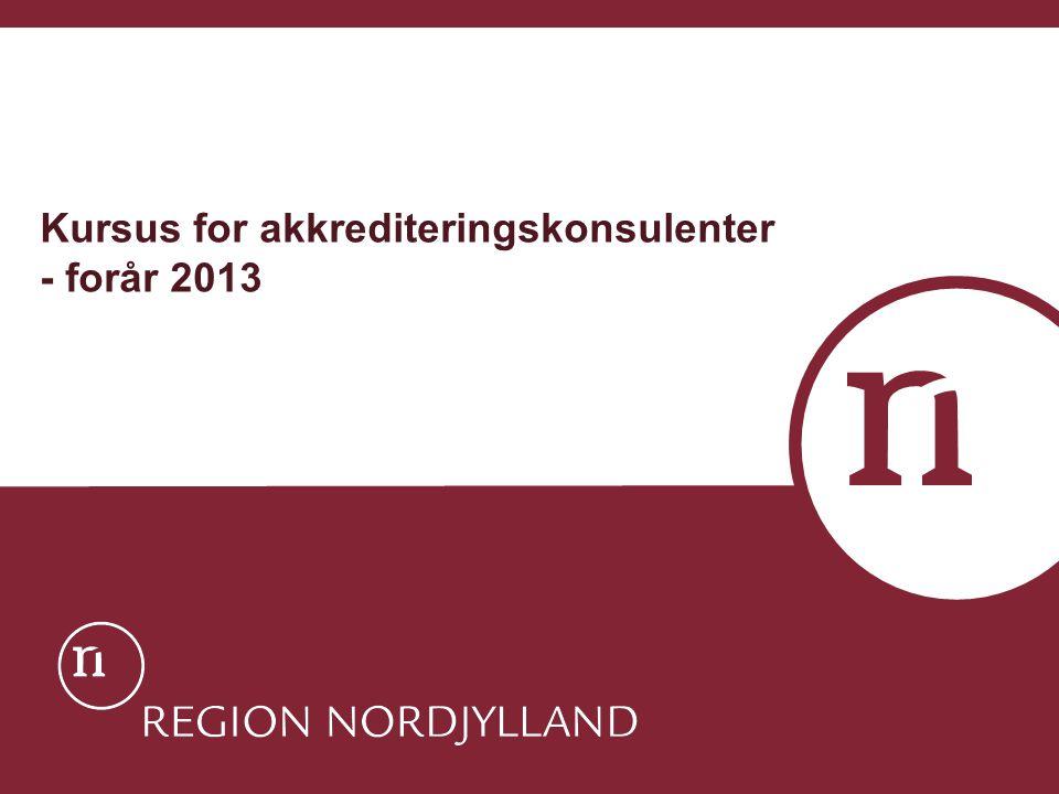 Kursus for akkrediteringskonsulenter - forår 2013