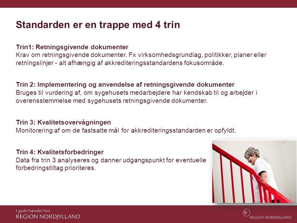 Trin1: Retningsgivende dokumenter Krav om retningsgivende dokumenter. Fx virksomhedsgrundlag, politikker, planer eller retningslinjer - alt afhængig a