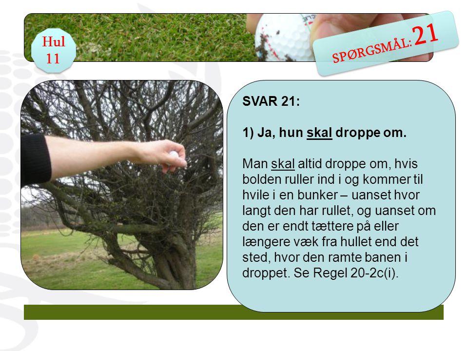 SPØRGSMÅL 27: Jans bold er endt i en vandhazard, men han kan faktisk godt spille den.