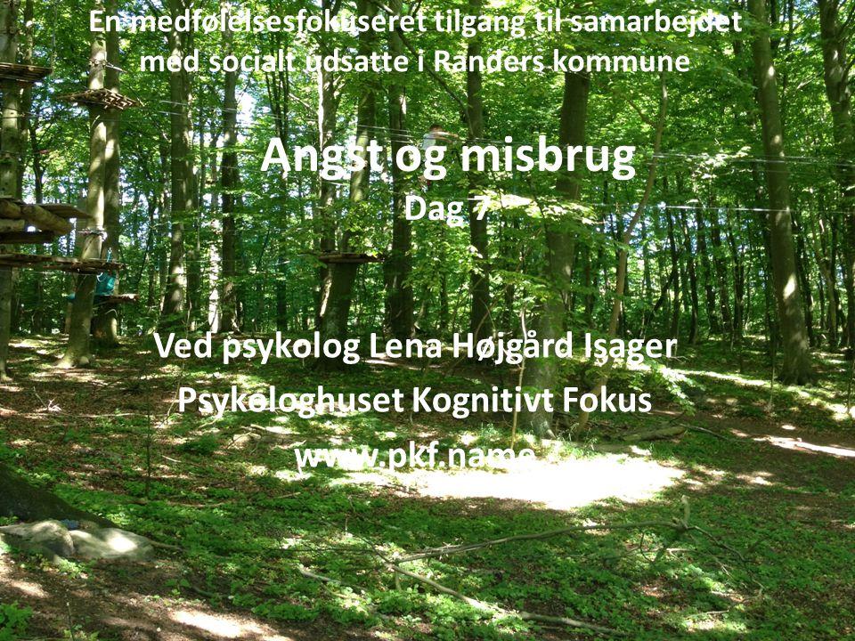 En medfølelsesfokuseret tilgang til samarbejdet med socialt udsatte i Randers kommune Ved psykolog Lena Højgård Isager Psykologhuset Kognitivt Fokus w