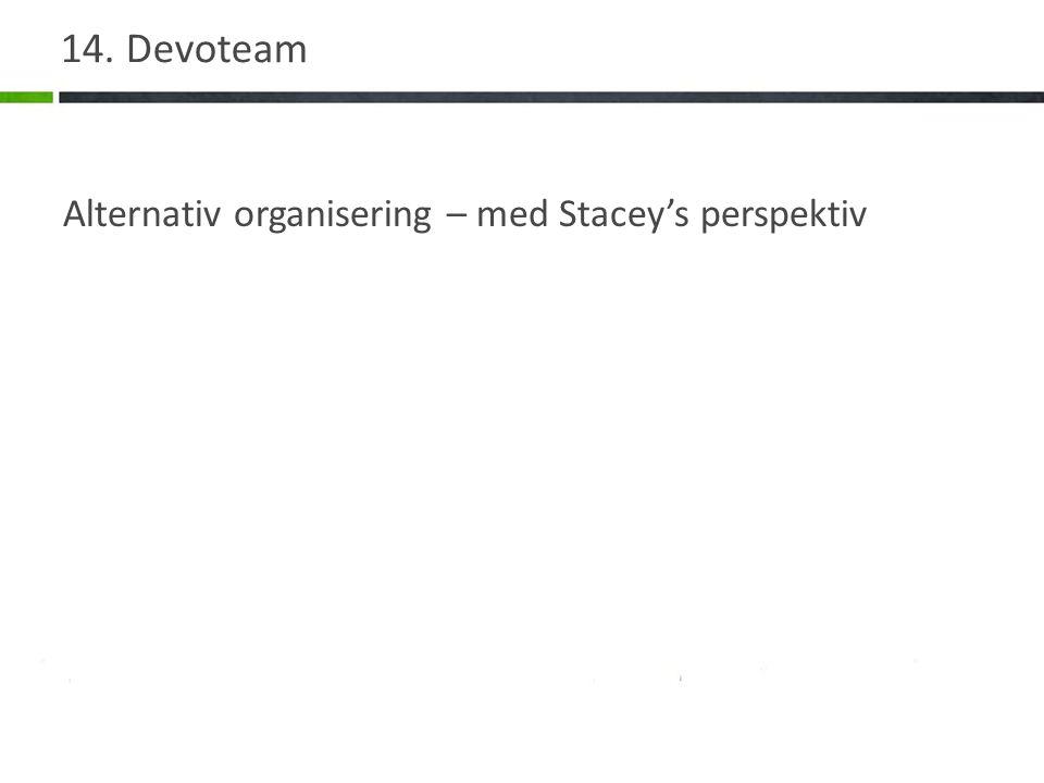 14. Devoteam Alternativ organisering – med Stacey's perspektiv