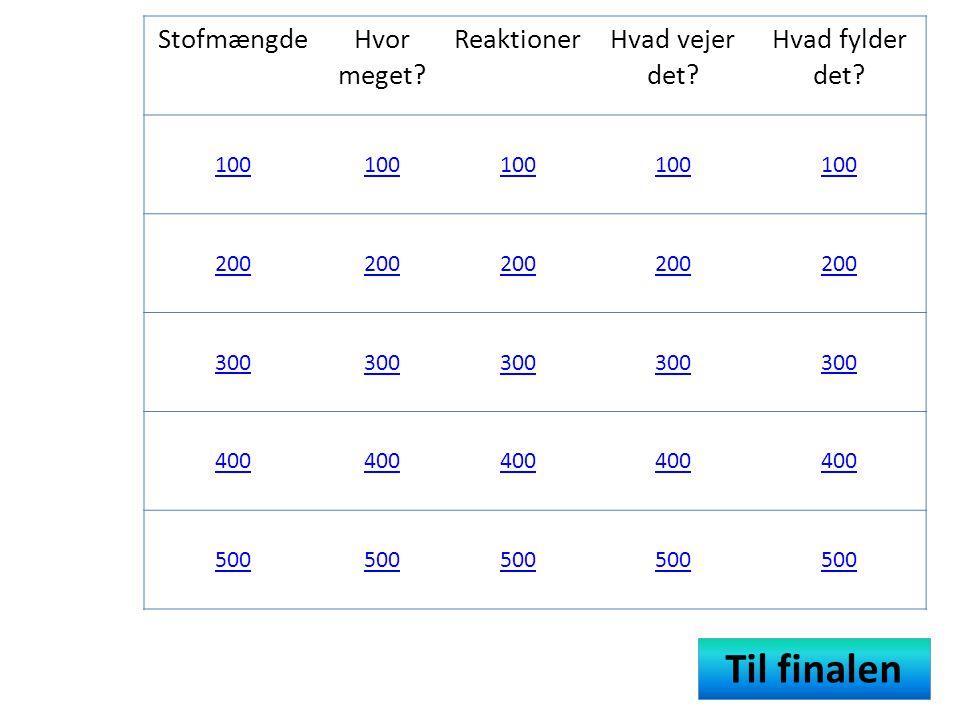 Reaktioner 100 point • Tegnet der adskiller reaktanter fra produkter i et reaktionsskema.