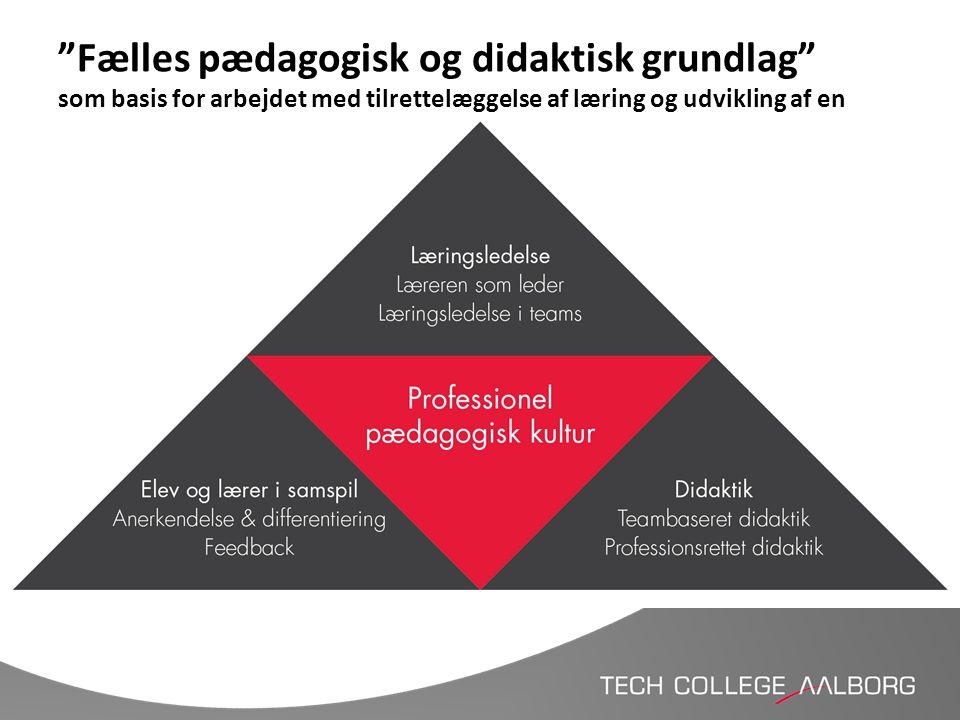 """""""Fælles pædagogisk og didaktisk grundlag"""" som basis for arbejdet med tilrettelæggelse af læring og udvikling af en anderledes læringsuge"""