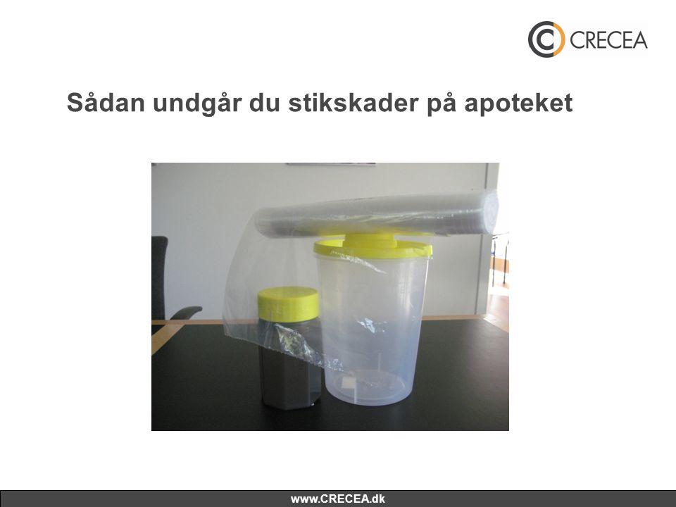 www.CRECEA.dk Sådan undgår du stikskader på apoteket
