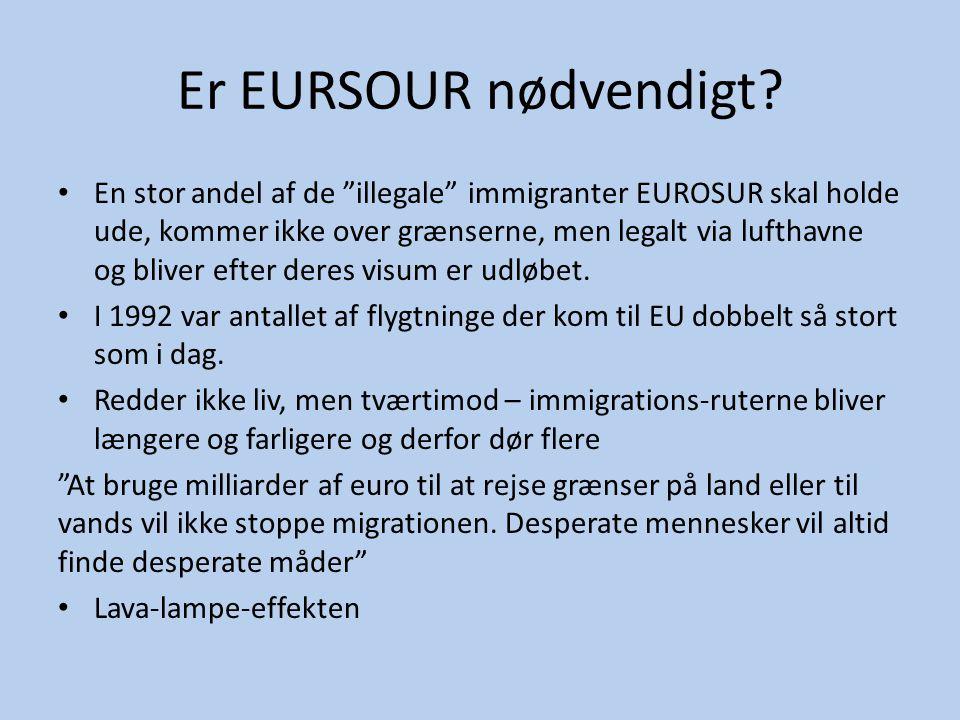 """Er EURSOUR nødvendigt? • En stor andel af de """"illegale"""" immigranter EUROSUR skal holde ude, kommer ikke over grænserne, men legalt via lufthavne og bl"""