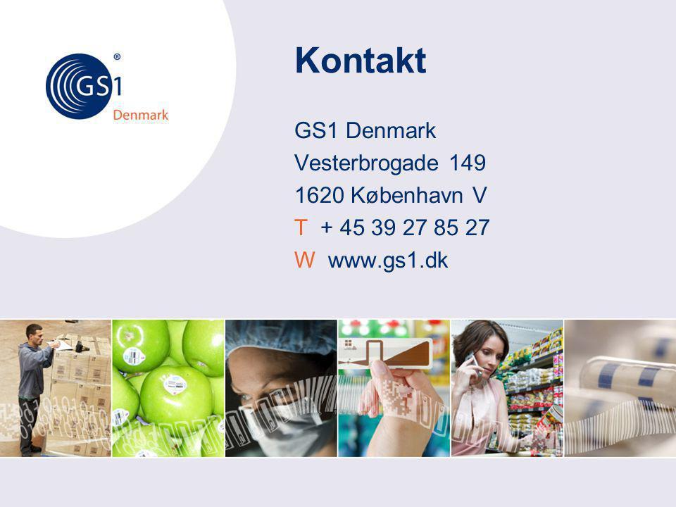 Kontakt GS1 Denmark Vesterbrogade 149 1620 København V T + 45 39 27 85 27 W www.gs1.dk