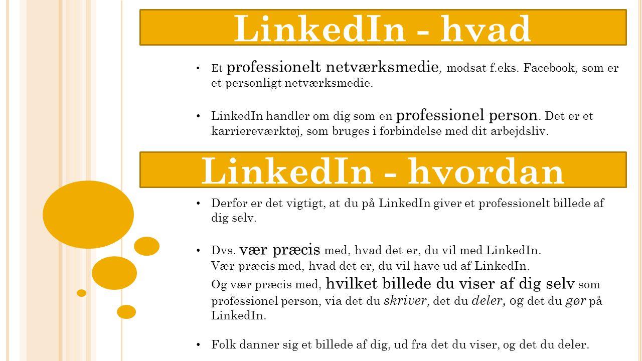 Om Virksomheder på LinkedIn Du kan finde Virksomheder her, eller du kan søge efter specifikke virksomheder på samme måde som med grupper Virksomheder på LinkedIn giver en virksomhed mulighed for at få følgere, både med hensyn til salg, men også rekruttering og for at skabe opmærksomhed.