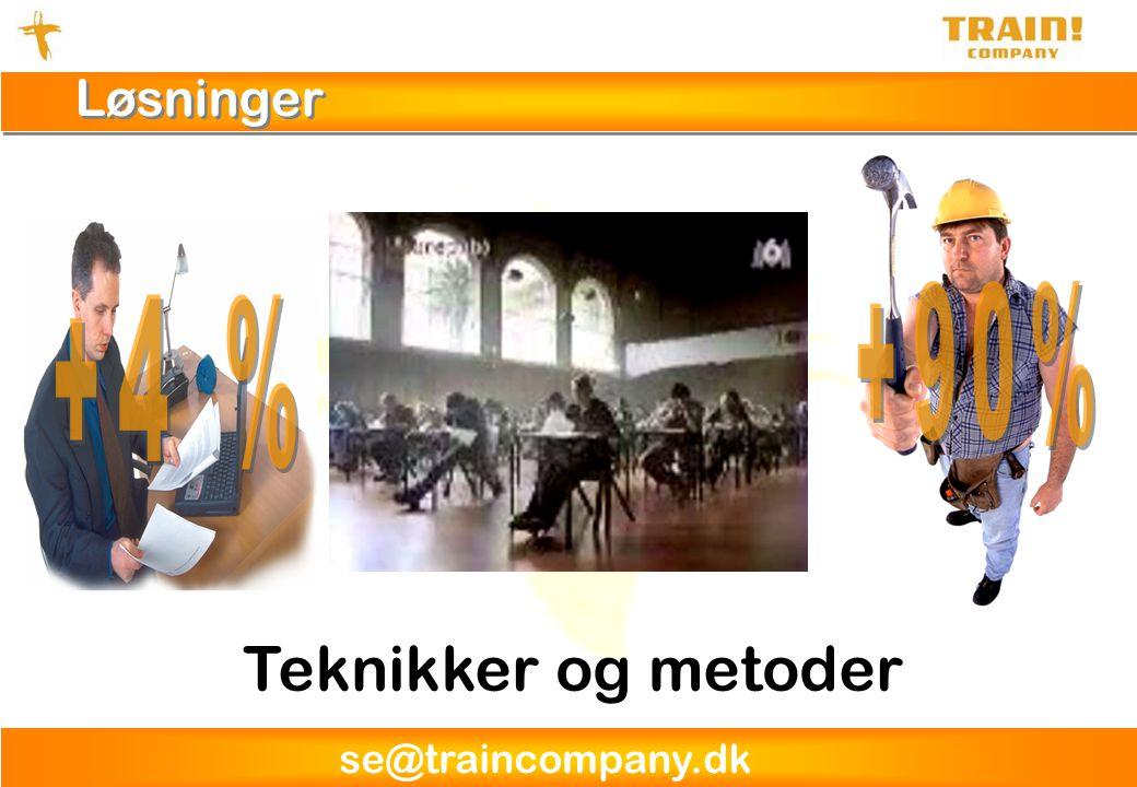 se@traincompany.dk Løsninger Teknikker og metoder