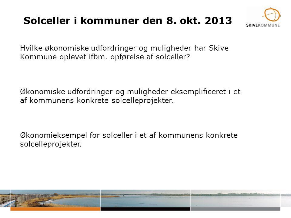 Solceller i kommuner den 8. okt.