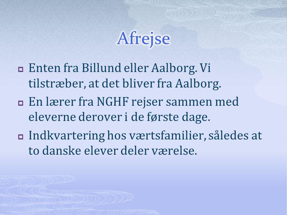  Enten fra Billund eller Aalborg. Vi tilstræber, at det bliver fra Aalborg.