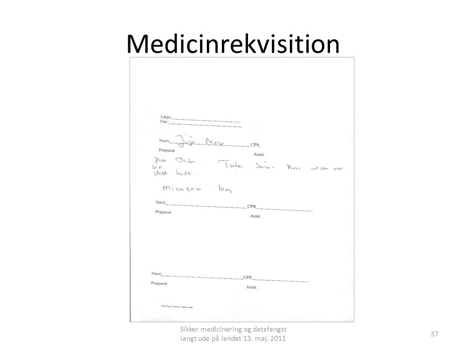 Medicinrekvisition 37