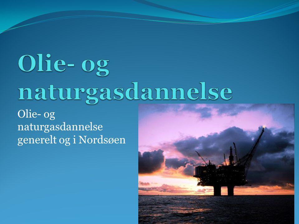 Olie- og naturgasdannelse generelt og i Nordsøen