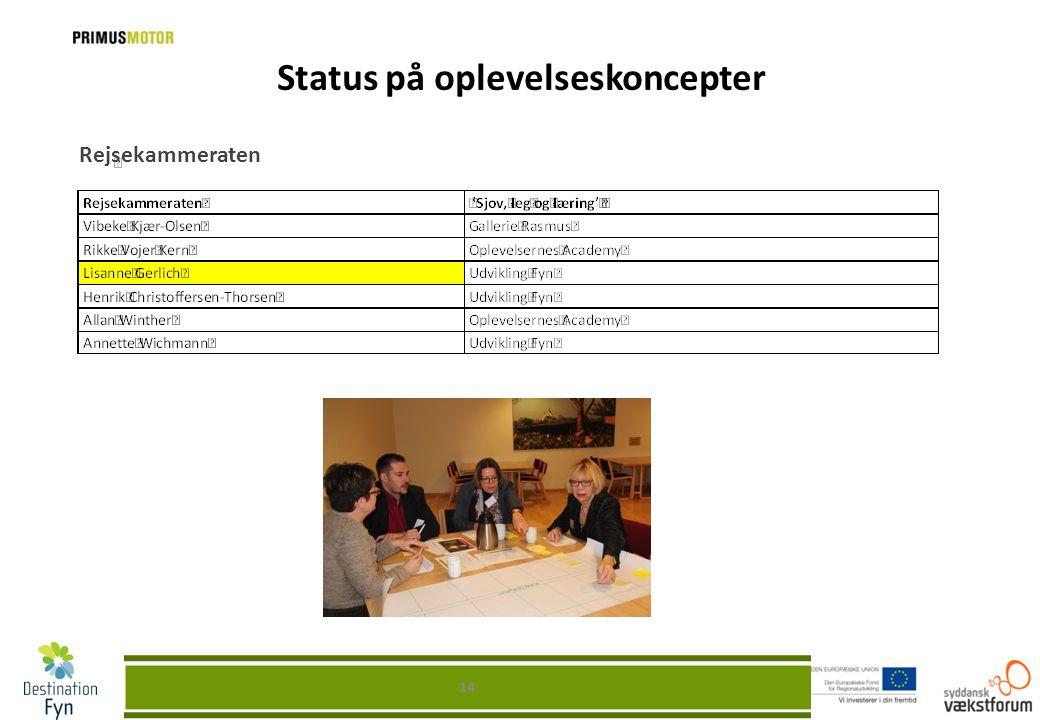 Status på oplevelseskoncepter Rejsekammeraten 14