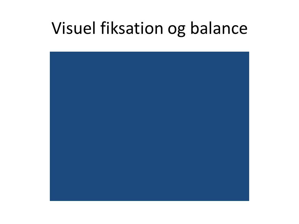 Visuel fiksation og balance
