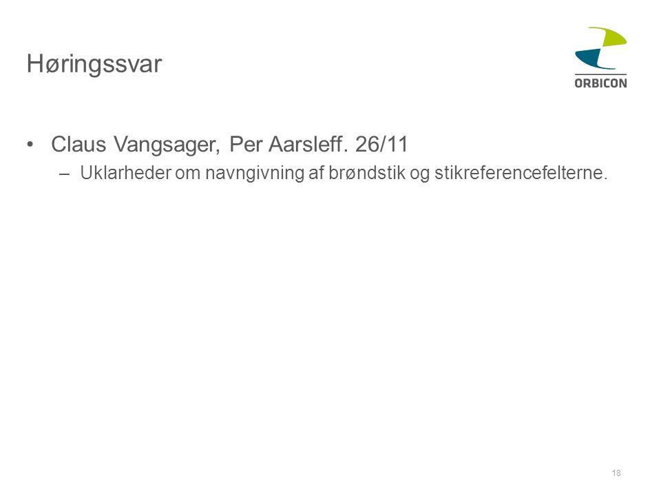 Høringssvar •Claus Vangsager, Per Aarsleff.