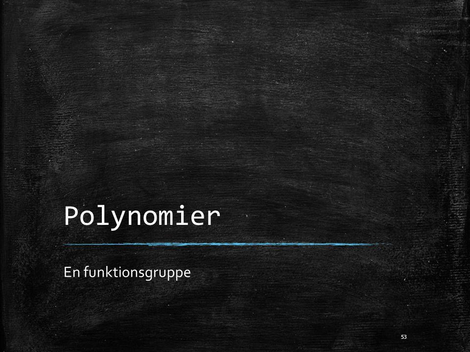 Polynomier En funktionsgruppe 53