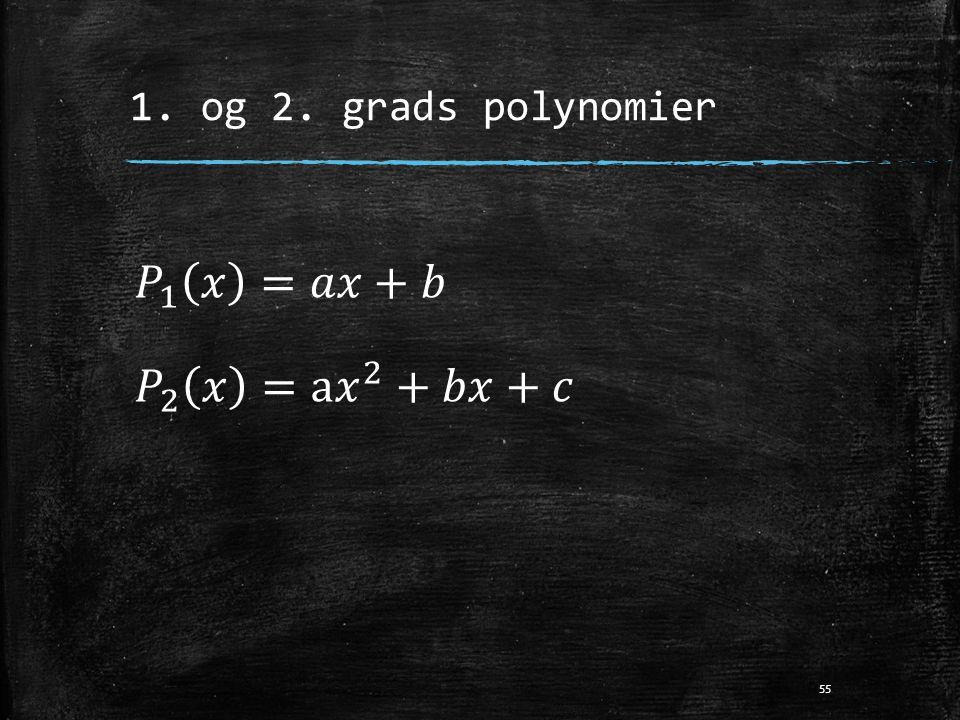1. og 2. grads polynomier 55