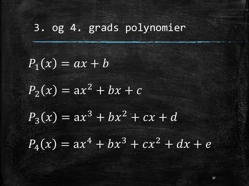3. og 4. grads polynomier 57