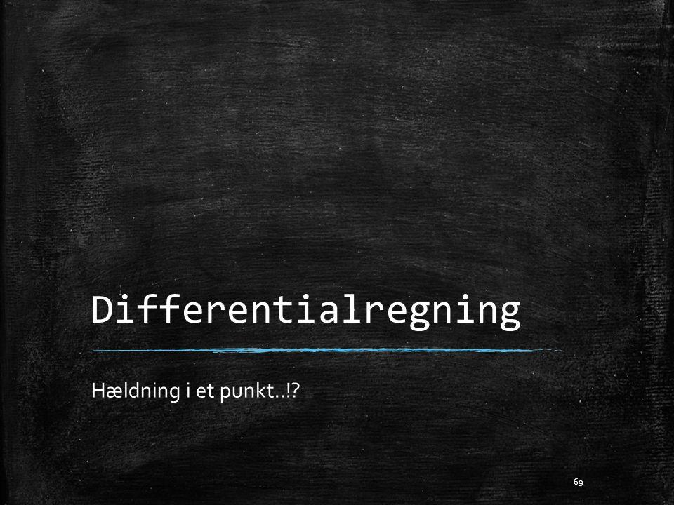 Differentialregning Hældning i et punkt..!? 69