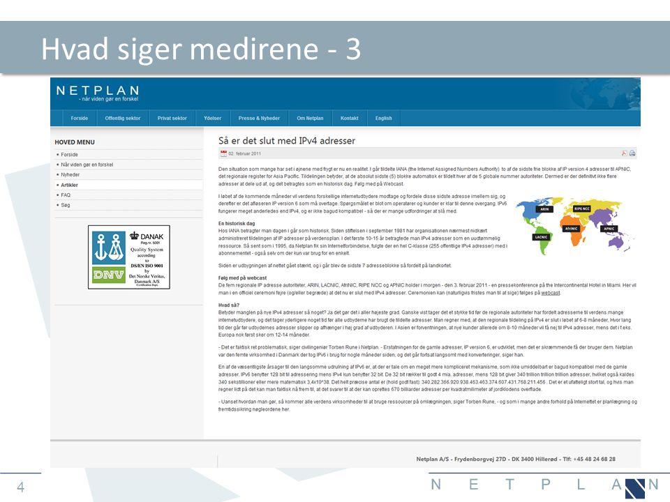 5 Agenda • Opsummering på IPv4 • Status på IPv4 • Opsummering på IPv6 • Skifte scenarier • Konklusioner