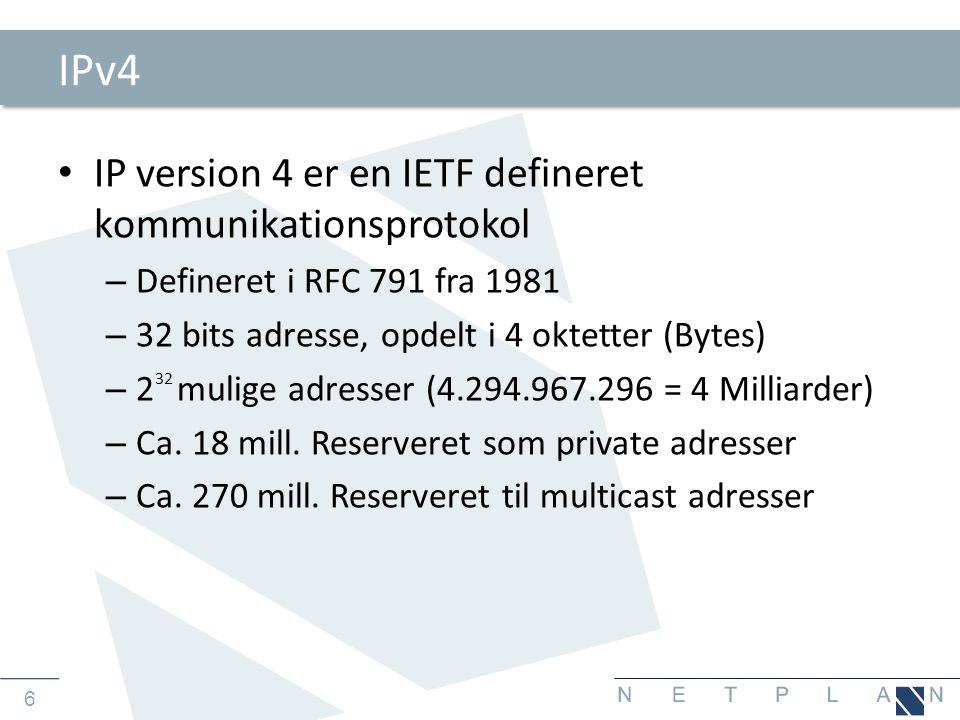 27 Eksempel på et rent ULA setup • Alle enheder anvender en unik intern adresse • Der skal findes en NAT enhed der kan supportere IPv6 eller en proxy server som kan håndtere IPv6.