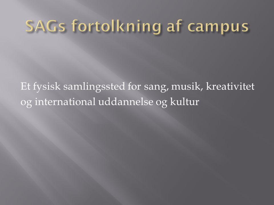  Campus giver mulighed for at skabe et unikt uddannelses- og kulturmiljø med vægt på sang, musik og kreativitet med henvisning til lokale, nationale og internationale samarbejdsmuligheder.