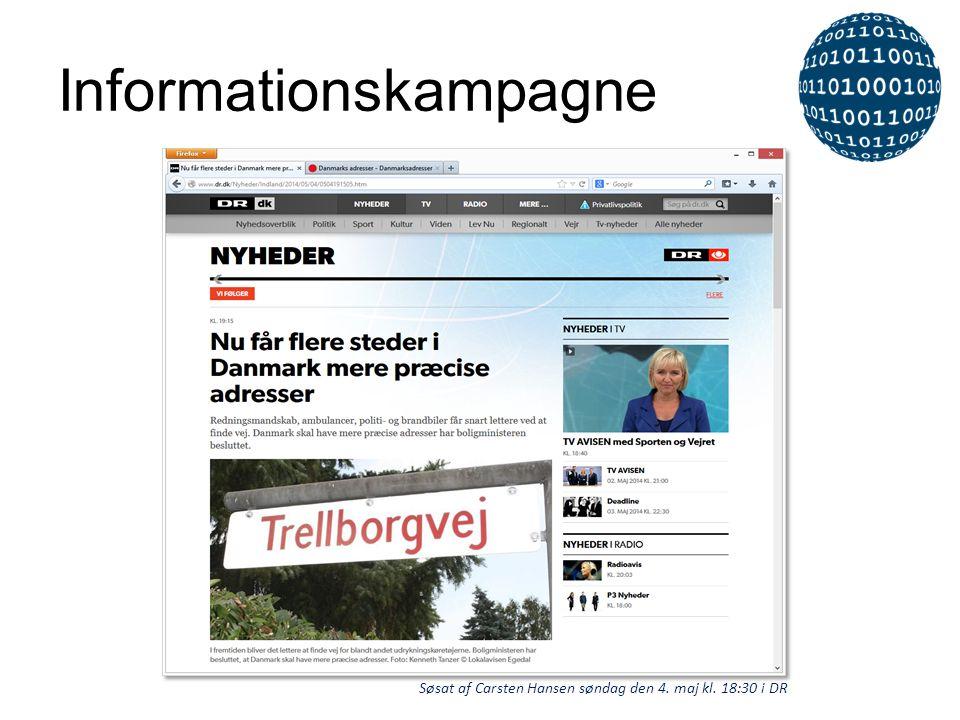 Informationskampagne Søsat af Carsten Hansen søndag den 4. maj kl. 18:30 i DR