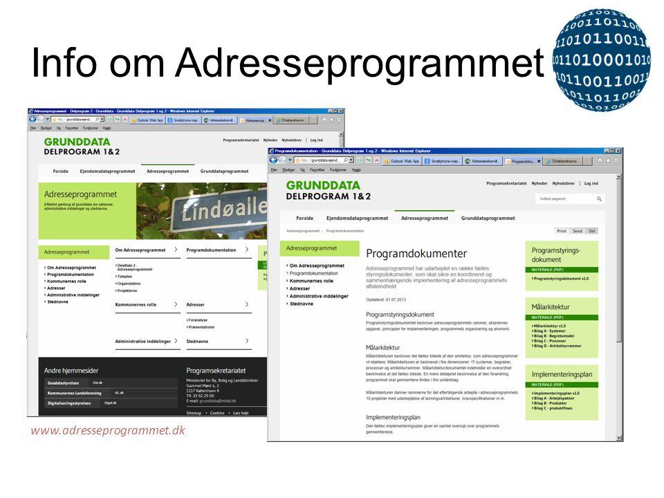 www.adresseprogrammet.dk Info om Adresseprogrammet