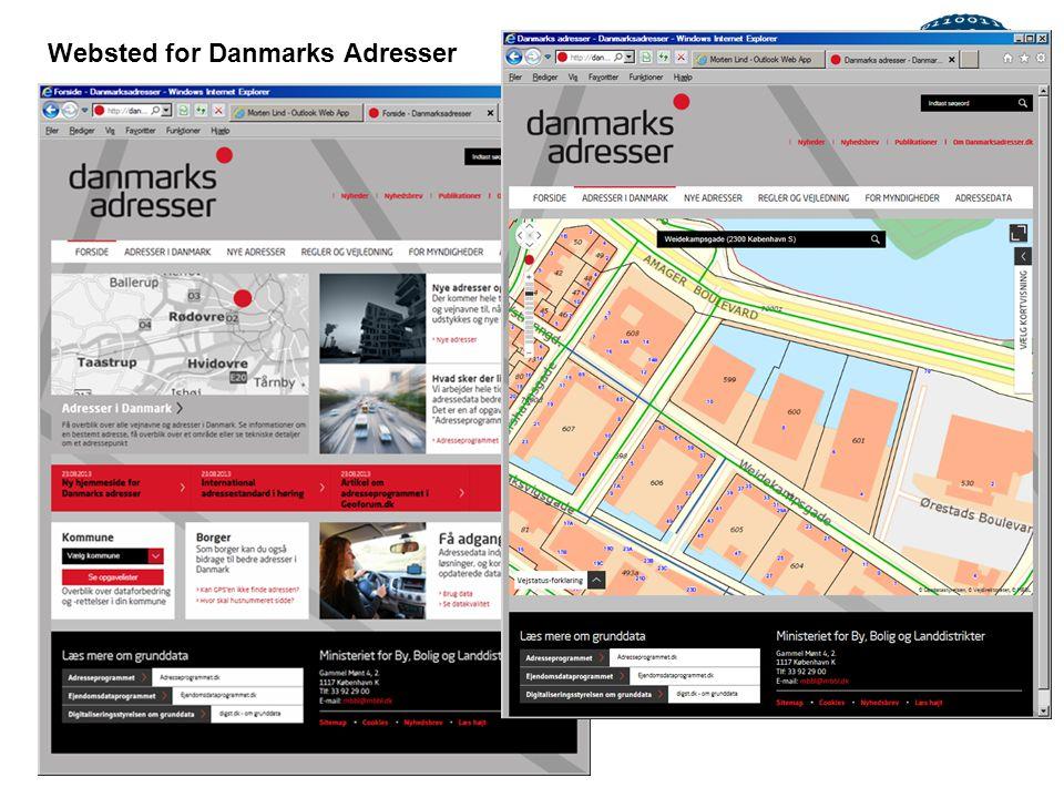 Websted for Danmarks Adresser