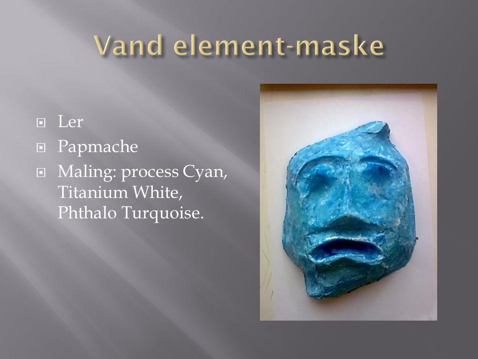 Ler  Papmache  Maling: process Cyan, Titanium White, Phthalo Turquoise.