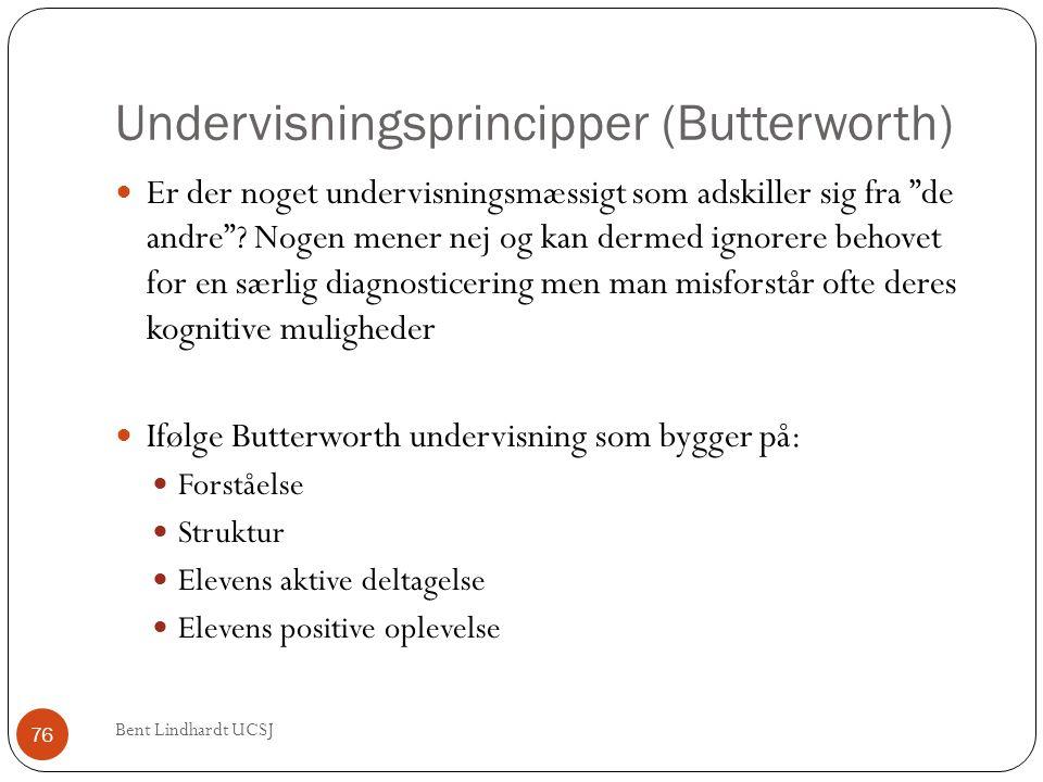 """Undervisningsprincipper (Butterworth)  Er der noget undervisningsmæssigt som adskiller sig fra """"de andre""""? Nogen mener nej og kan dermed ignorere beh"""