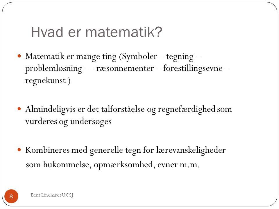Hvad er matematik?  Matematik er mange ting (Symboler – tegning – problemløsning –– ræsonnementer – forestillingsevne – regnekunst )  Almindeligvis