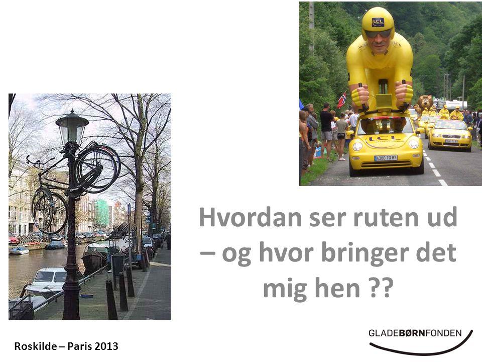 Hvordan ser ruten ud – og hvor bringer det mig hen Roskilde – Paris 2013
