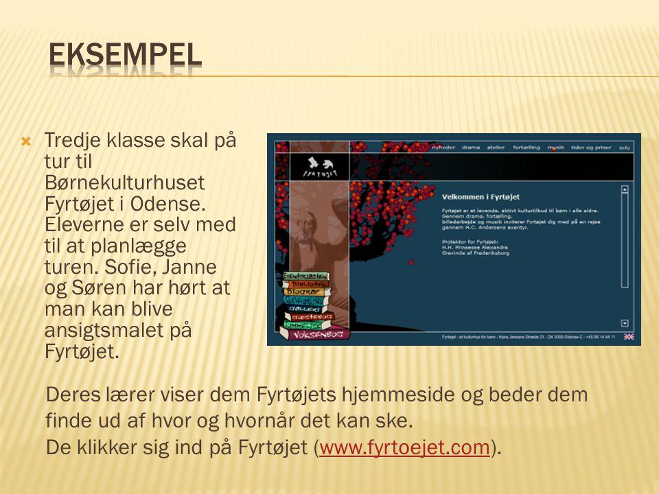  Tredje klasse skal på tur til Børnekulturhuset Fyrtøjet i Odense.