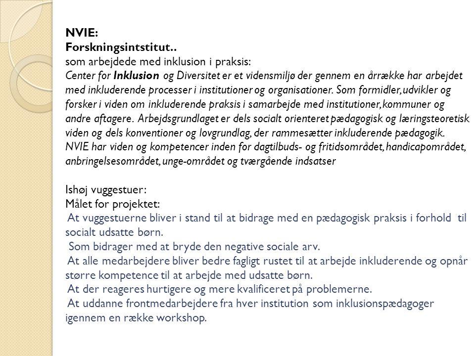 NVIE: Forskningsintstitut..