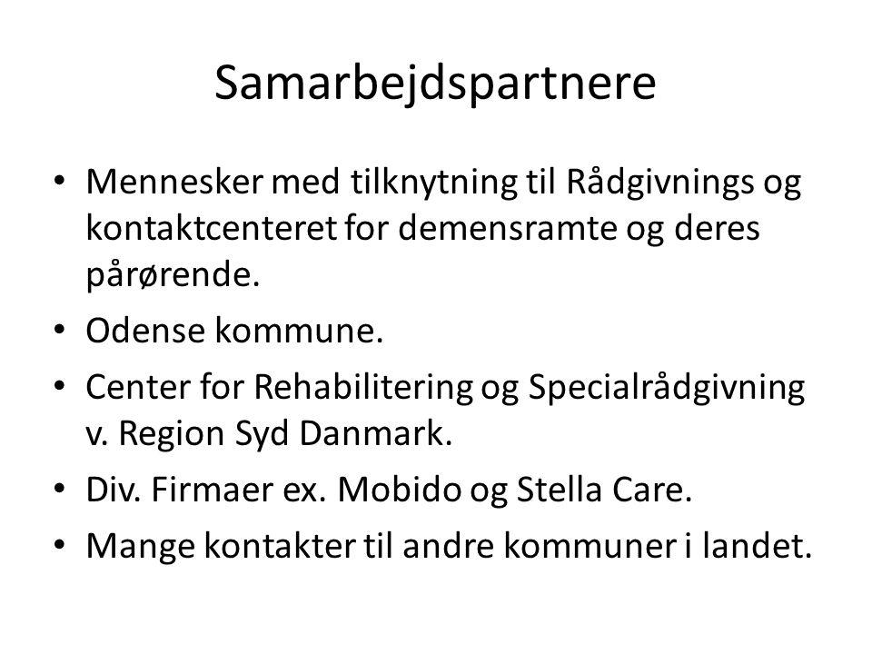 Samarbejdspartnere • Mennesker med tilknytning til Rådgivnings og kontaktcenteret for demensramte og deres pårørende.