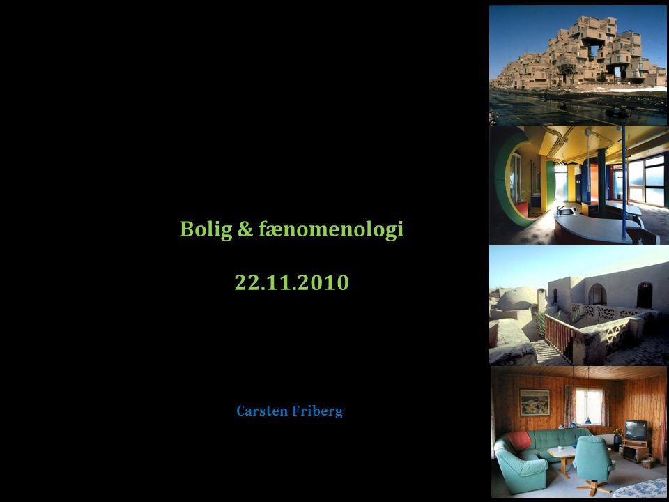 1.Lidt om fænomenologi og spørgsmål om bolig 2. Hvad er fænomenologi 3.