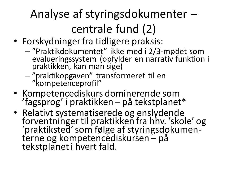Analyse af 2/3-samtalen – centrale fund (1) • En del forskelle men også ligheder i måden, hvorpå 2/3-samtalen og kompetencediskursen fungerer – eller ikke fungerer – i henholdsvis normal- og specialpraktikken.