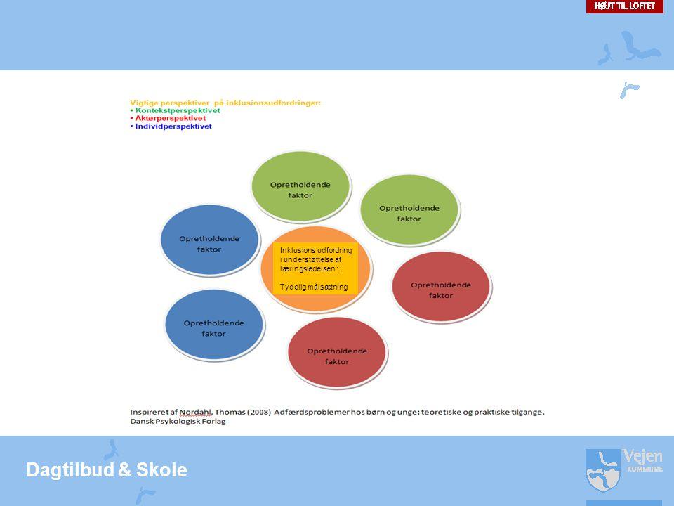 Dagtilbud & Skole Inklusions udfordring i understøttelse af læringsledelsen : Tydelig målsætning