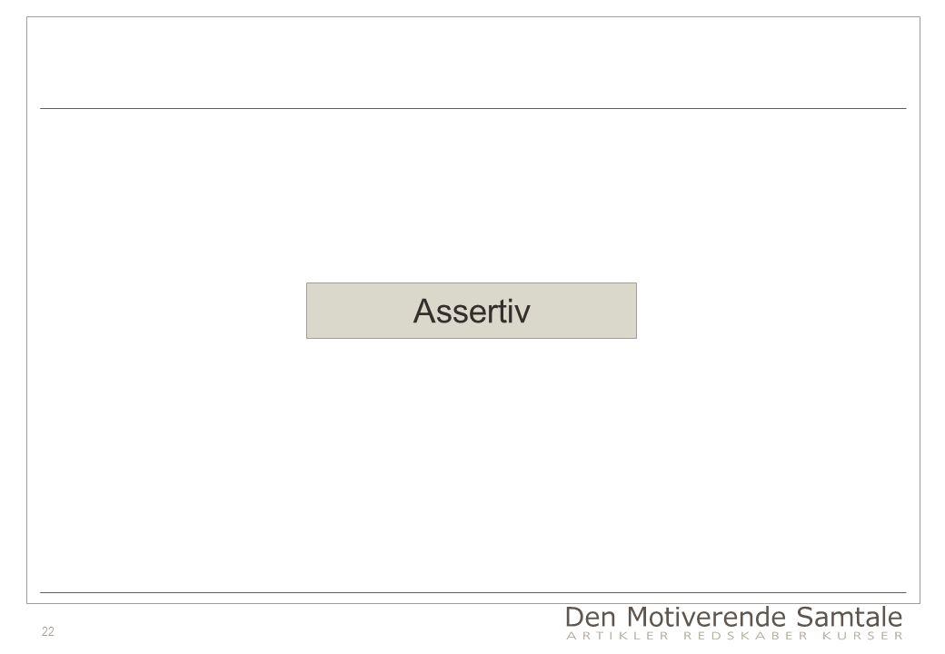 22 Assertiv