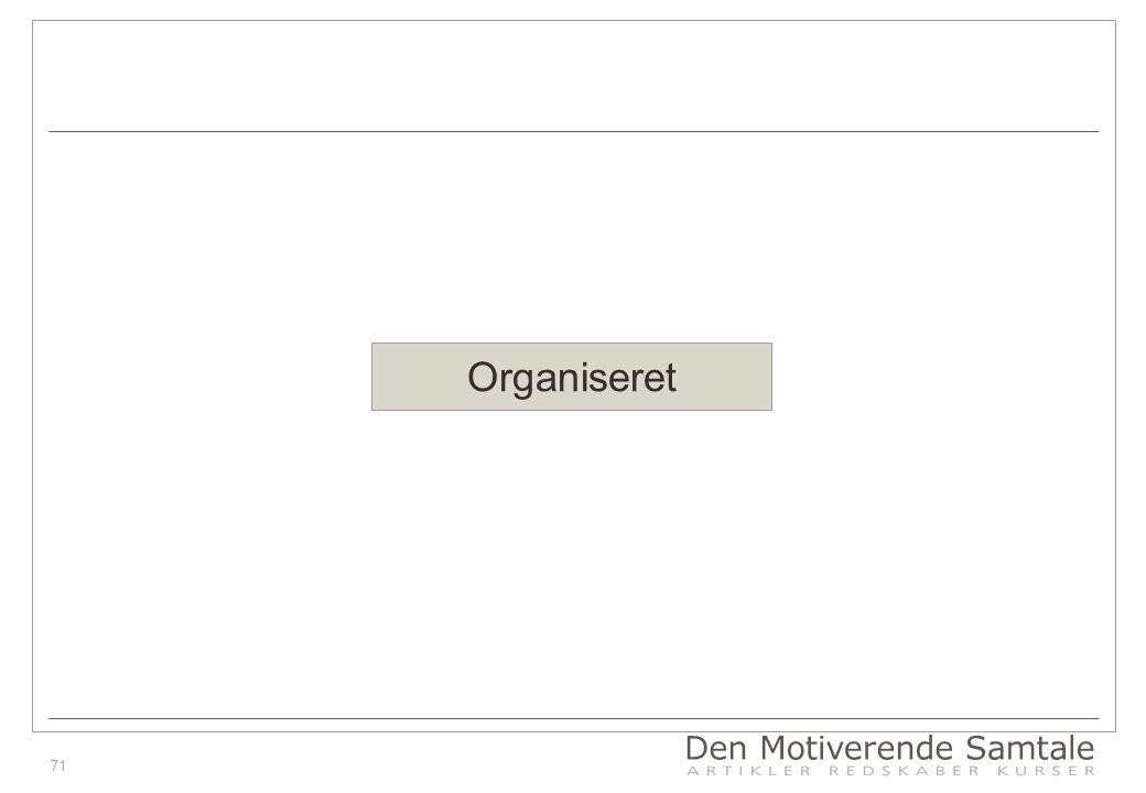 71 Organiseret