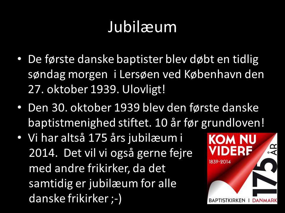 Jubilæum • De første danske baptister blev døbt en tidlig søndag morgen i Lersøen ved København den 27. oktober 1939. Ulovligt! • Den 30. oktober 1939