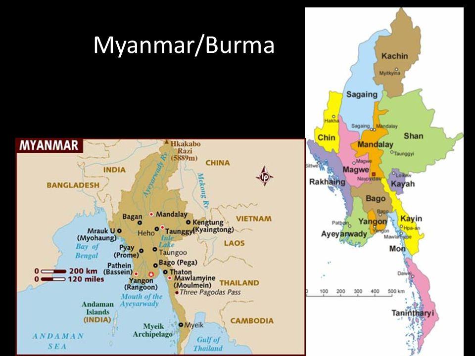 Kort om historien • 1948: Uafhængighed fra England under Aung San • 1962: Ne Win og militærkup.