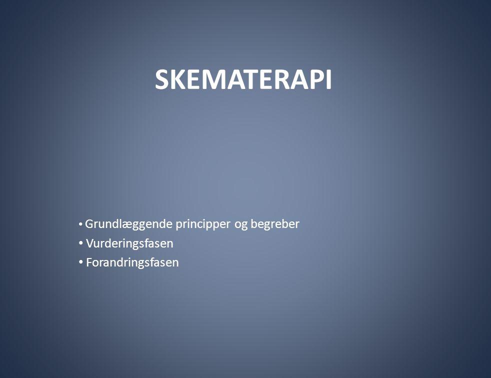SKEMATERAPI • Grundlæggende principper og begreber • Vurderingsfasen • Forandringsfasen