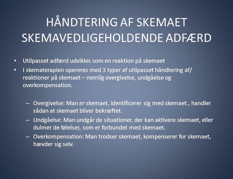 OPGAVER OMKRING HØJRISIKOSITUATIONER/ TILBAGEFALD Opgaver med identificering af modi under tilbagefaldsprocessen.
