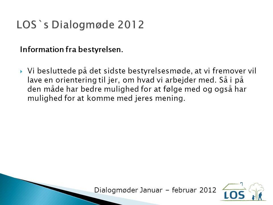 Information fra bestyrelsen.