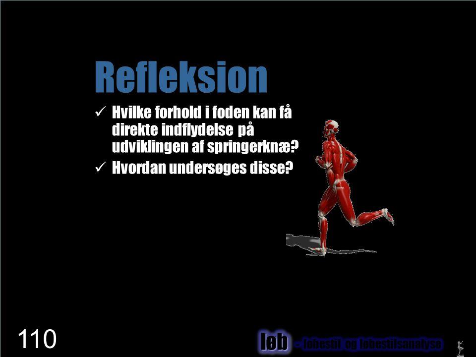 www.netfysioterapi.dk Copyright © 2010 Lars Henrik Larsen Refleksion  Hvilke forhold i foden kan få direkte indflydelse på udviklingen af springerknæ