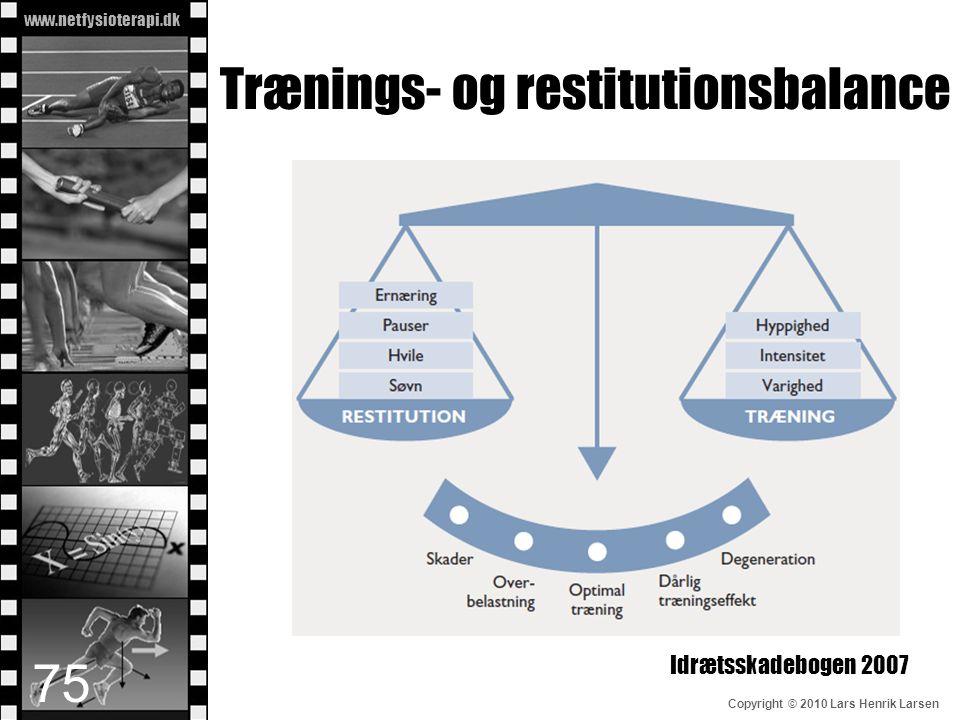 www.netfysioterapi.dk Copyright © 2010 Lars Henrik Larsen Trænings- og restitutionsbalance Idrætsskadebogen 2007 75