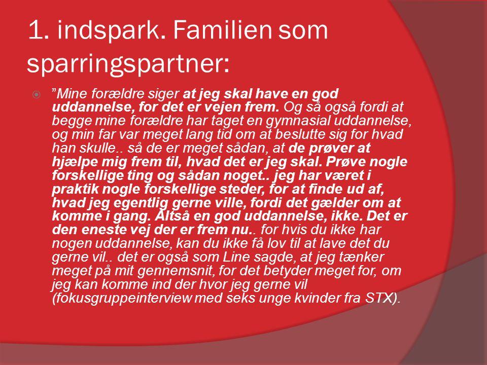 1.Indspark: Familien som sparringsparterne.