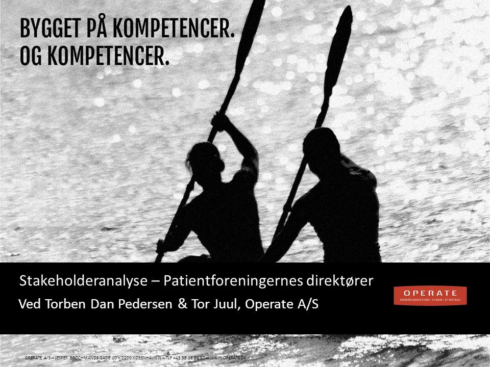 WWW.OPERATE.DK Blankt sort layout WWW.OPERATE.DK | SIDE 22 Lægemiddelvirksomhedernes rolle Har du forslag til et godt samarbejde.